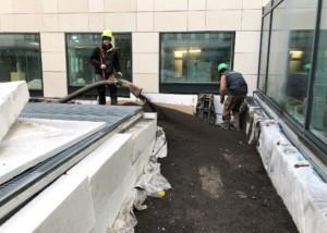 Mise en place terre allégée sur les toits terrasses avec Bnp Fontenay sous Bois pour la RATP